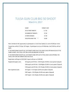 TULSA GUN CLUB BIG 50 SHOOT 03042017