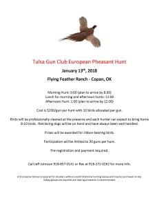 Tulsa Gun Club Pheasant Hunt Jan 2018 Edit