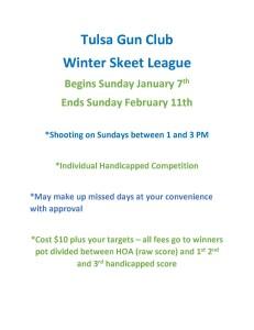 Winter League Flyer